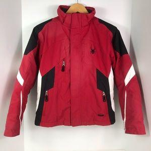 Spyder snowboarding skiing jacket red